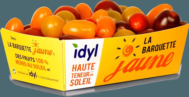 Photo de la barquette jaune de tomates Idyl